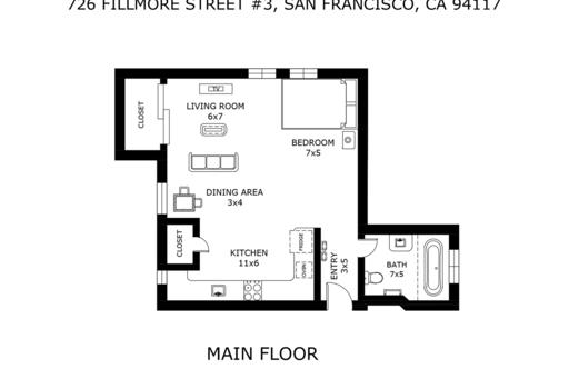 image 8 furnished Studio bedroom Apartment for rent in Haight-Ashbury, San Francisco