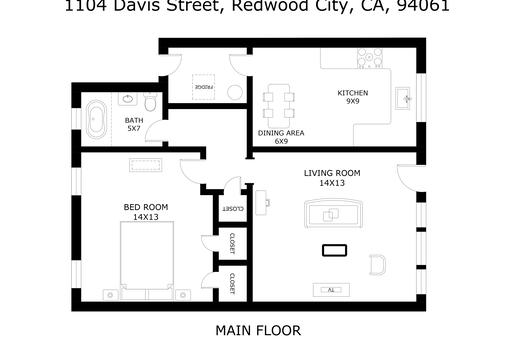 image 10 furnished 1 bedroom Apartment for rent in Redwood City, San Mateo (Peninsula)