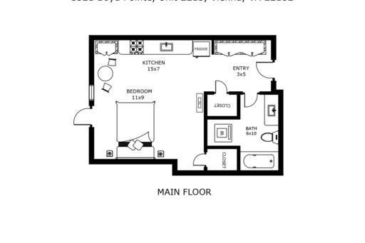 image 7 furnished Studio bedroom Apartment for rent in Vienna, DC Metro