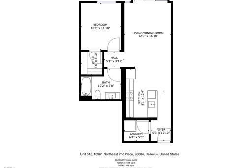 image 10 furnished 1 bedroom Apartment for rent in Bellevue, Seattle Area