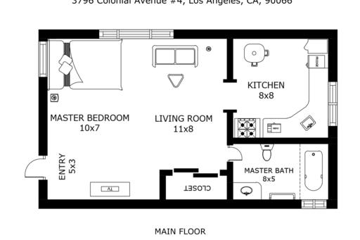 image 10 furnished Studio bedroom Apartment for rent in Culver City, West Los Angeles